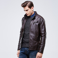 MOON BUNNY Man Leather Jacket Windproof 3 Colors Motorcycle Slim Men's e Leather Jackets wholesale MOQ 1set