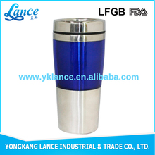 2016 new fashionable travel mug heat resistant plastic coffee cup