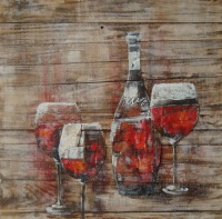 MB173 Popular Home decoration Wall Art Handpainted Abstract Wine Glass Oil Paintings