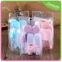 bottle cosmetic ,H0T007 empty plastic bottle travel kit with beautiful pvc bag