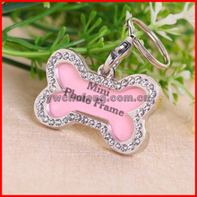 High quality beautiful with diamond Metal Dog Tag,Name Stainless Steel Pet Tag
