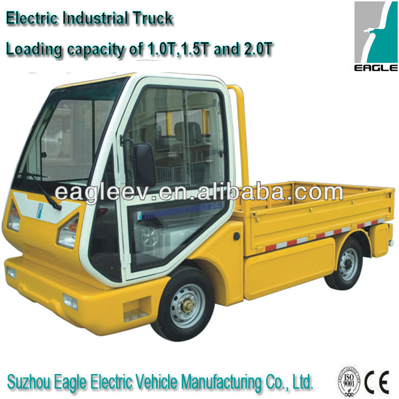 Electric mini semi trucks for sale with 1500kgs loading capacity , CE approved