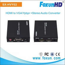 MINI HDMI to VGA converter 2 HDMI inputs to 1 VGA/YPbPr and stereo audio output
