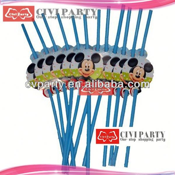 Popular flexible plastic party straws with for drinking corn straw