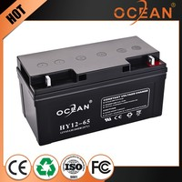 Hot selling newest 12V 65ah fast delivery dry cell battery ups