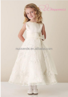 2015 organza white flower girl wedding ball gowns for wedding dress kids dress