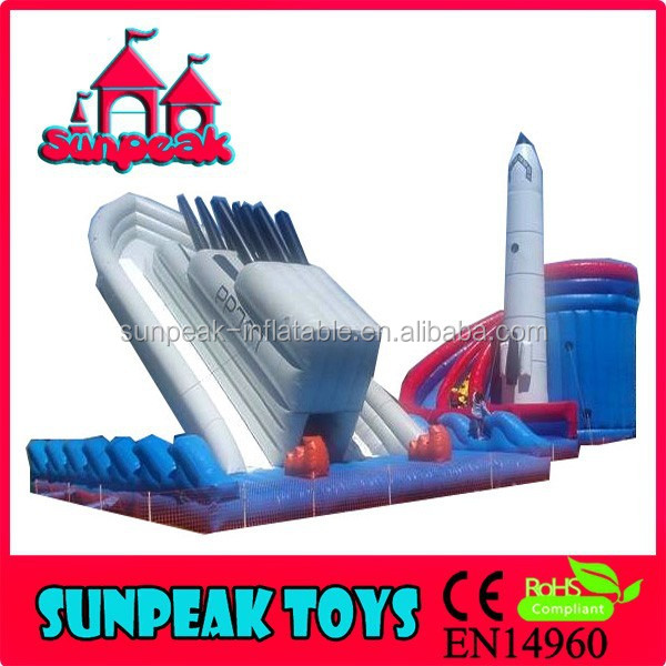 SL-1387 Giant Inflatable Warship And Rocket Ships Amusement Inflatable Park Inflatable Bouncer Slide For Kids