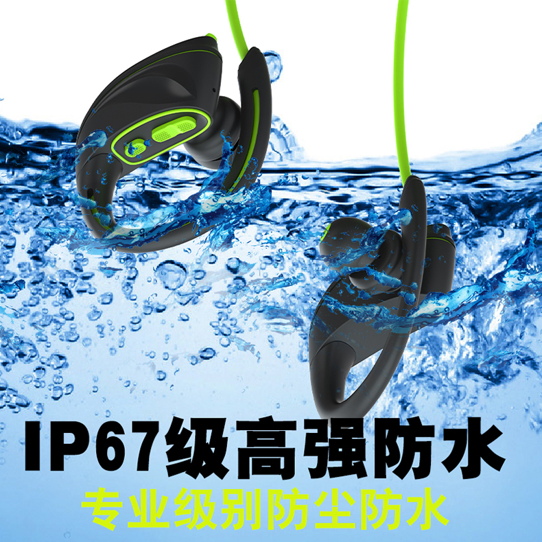 2018 New High quality ipx7 Waterproof Sport Bluetooth stereo Earphone