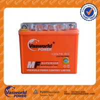 High perfermance long life lead acid mf YTX7 12v7ah electric motorcycle battery pack for Bangladesh market