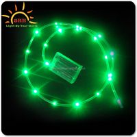 Cheap custom green leds battery operated Ourdoor Garden rope tube string led light