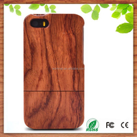 2015 hot selling two parts wooden cell phone case for iphone 5 5s , for iphone 5 case wood