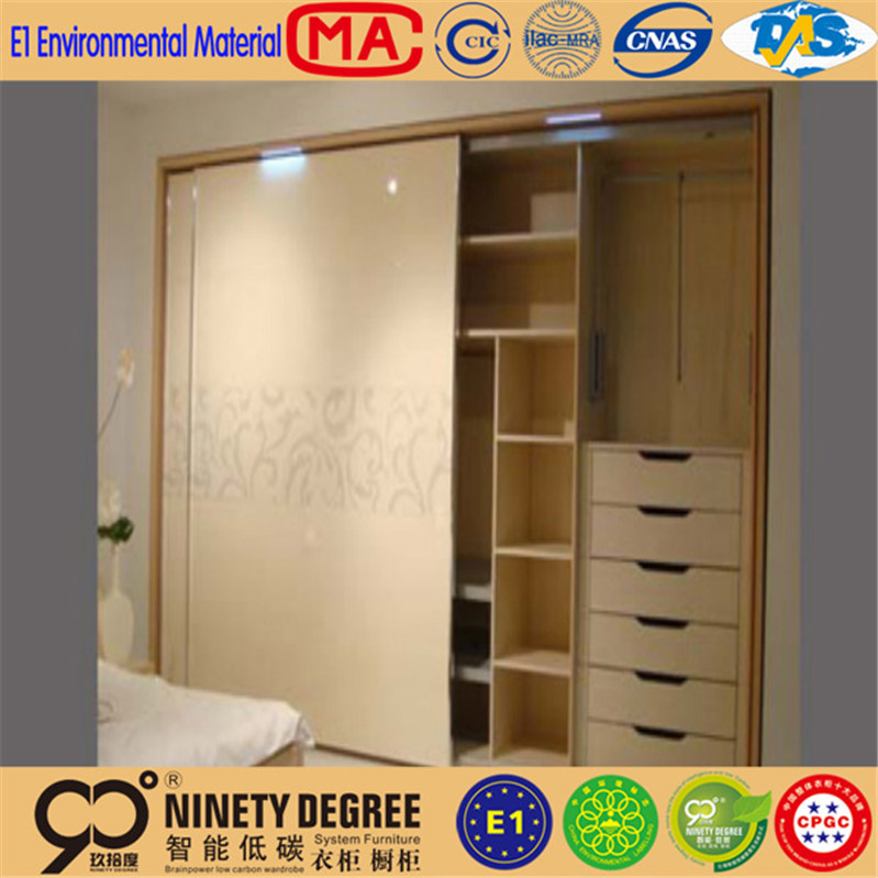 2014 Hot Sale Shopping two door 2 door wardrobe with mirror