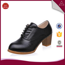 Women Oxford Shoes Lace up PU Leather lady Shoes Round Toe oxford shoes for women