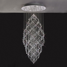 2018 New Model Designer Modern Crystal Chandeliers Decorative Raindrop Chandelier Spiral in China 92007