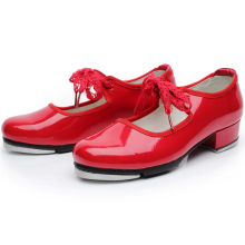 Girls Beautiful Design Red Black White Tap Dance Shoes Kids Cheap Tap Shoes