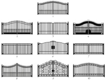 iron single gate / iron gates models / antique wrought iron driveway gate