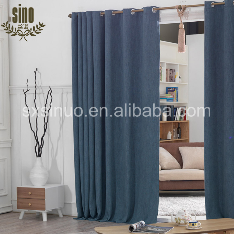 Modern Northern Europe 3 layer fabric blackout window cotton curtain