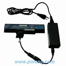 universal external laptop battery charger with over-current, over-voltage, over-charge, over-heat and short circuit protect