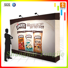 Shopping Mall End Cover Display Stands with fabric four color print