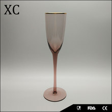 Hot sale colored korea gold rimmed glassware from China market