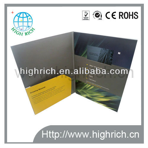 Newest 4.3 inch lcd video brochure
