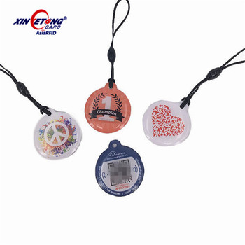 waterproof epoxy RFID tags MF S50 1K byte NFC dog Tag with cheap price