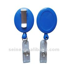 Round bage reel for ic card or lanyards hanging