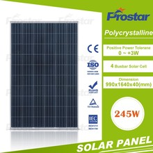 Hot sale 245 watt 245w photovoltaic solar panels with silver frame for home