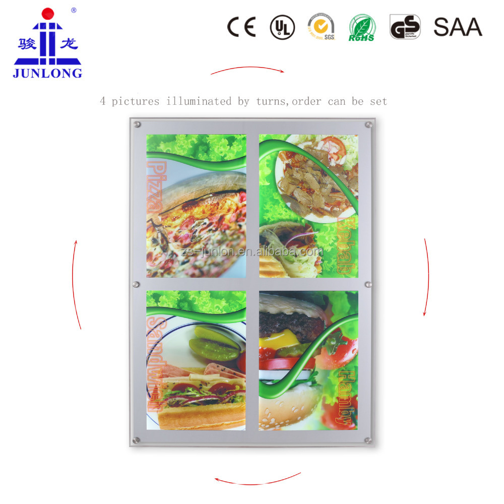 JL-S4 Multi graphic acrylic material crystal picture frame led advertising light box