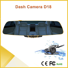 best video camera D18 Car mirror recorder dvr HD car rear view mirror driving 5.0 inch car camera security
