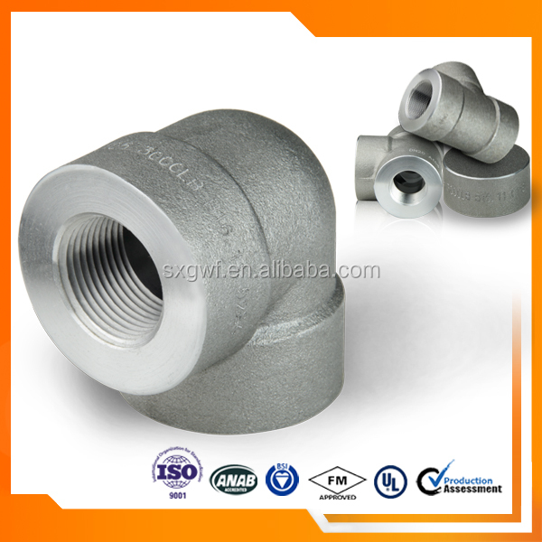 "Forged high pressure 1 1/4"" ss316 equal elbow"