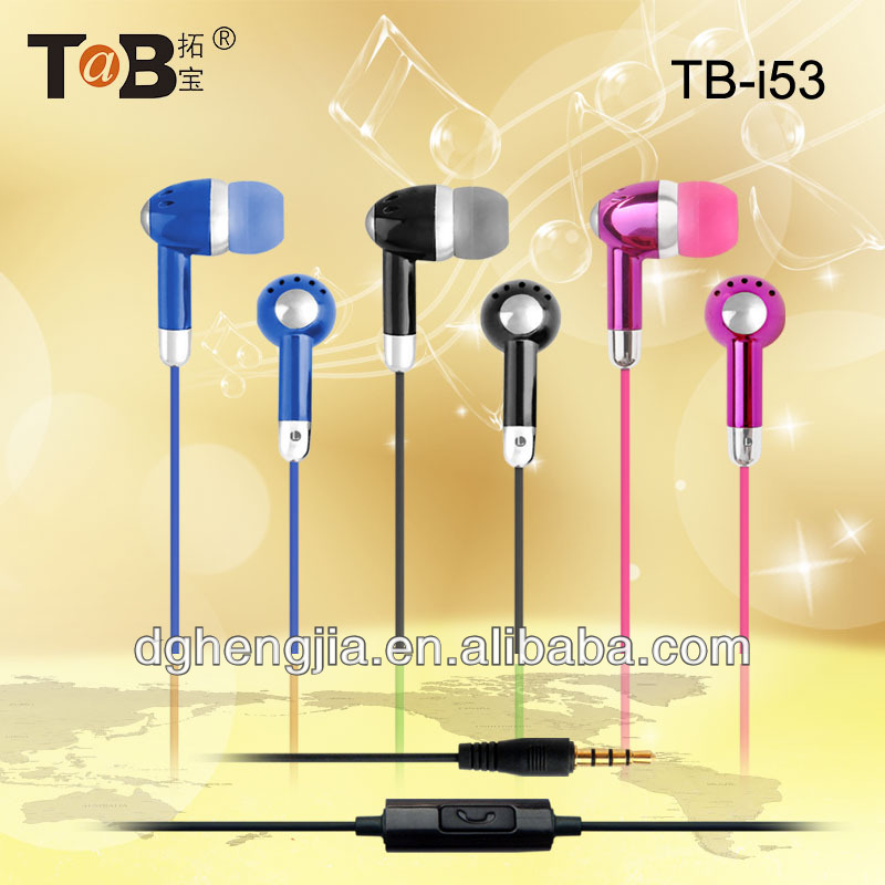 2015 new style best hot selling moblile phone good quality best earphone with mic