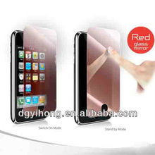 New Fashion Red Mirror Screen Protector For Iphone 4 4S