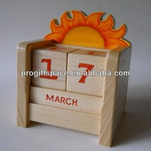 Hot new best selling product eco friendly quality craft wooden Desk Calendar Block alibaba made in China