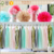 Fireproofed Garland tissue paper tassel for wedding decoration,halloween decorations
