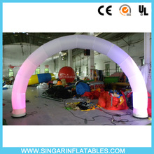 Lighting inflatable led wedding arch,white wedding archway