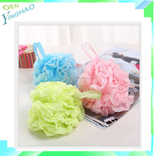 Promotional cheap bath pouf wholesale,mesh pouf bath sponge free sample