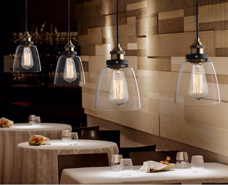 New vintage klarglas pendelleuchte kupfer hängelampen für dekor ...