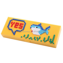 High quality plastic pencil box multifunctional stationery pencil case with cartoon design