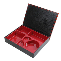 Lacquer Japanese Five Divided Bento Box