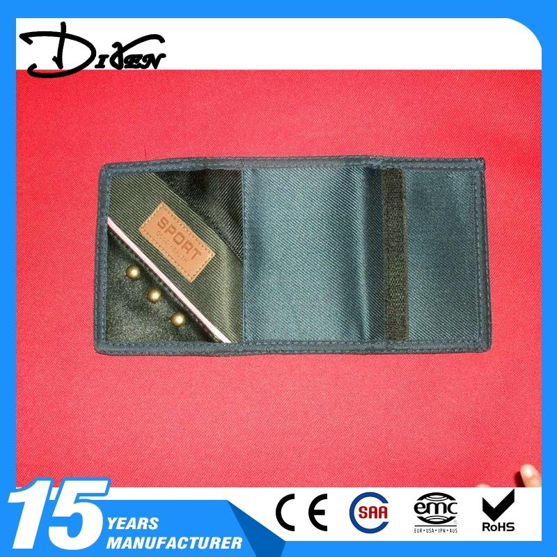Simple brief paragraph zero billfold leather card wallet