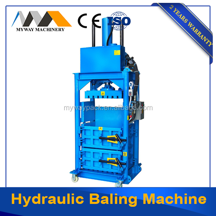 small used clothing and aluminum can baler machine for sale