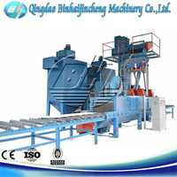 roller conveyor sandblaster for derusting from china with high efficiency