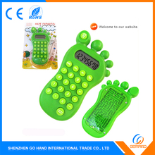 Novelty Gift Foot Shape 8 Digits Electronic Mini Calculator Kids Promotional