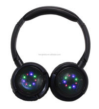 Flexible LED Flashing lights blue tooth headsets with the deep bass and clear sound,bluetooth headphones wireless V4.2