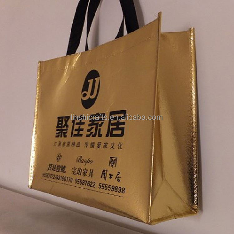 Fast delivery superior quality trolley shiny bags supermarket