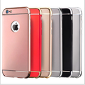 2016 New Luxury Removable 3 in 1 Electroplating plastic phone Case Back for iphone7