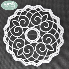 wholesale round lace shape metal etching cutting dies for craft scrapbooking