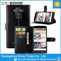 Wholesale Cheap Price Wallet PU Leather Flip Case for Lg G4 with 3 Card Holder
