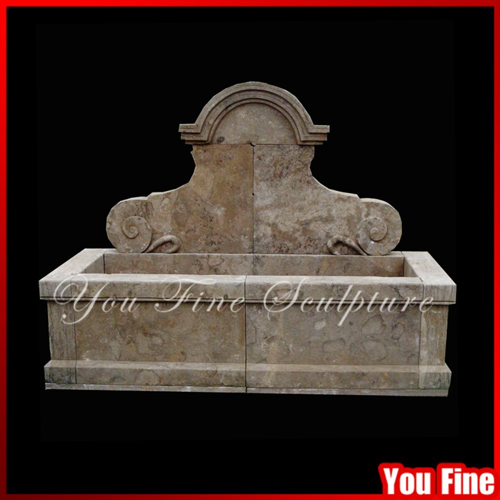 Simple Design Antique Stone Outdoor Cheap Wall Fountain